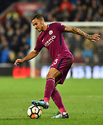 Danilo (3) of Manchester City during the The FA Cup 4th round match between Cardiff City and Manchester City at the Cardiff City Stadium, Cardiff, Wales on 28 January 2018. Photo by Graham Hunt.