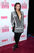 """Kat Graham attends VH1's """"Big Music in 2015: You Oughta Know"""" concert at The Armory Foundation in New York City, New York on November 12, 2015."""