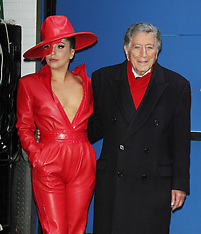 DEC 03 2014 Lady Gaga and Tony Bennett promote their new CD Cheek to Cheek