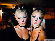 Two girls made up to look like like cats/mice, Ibiza, 1998