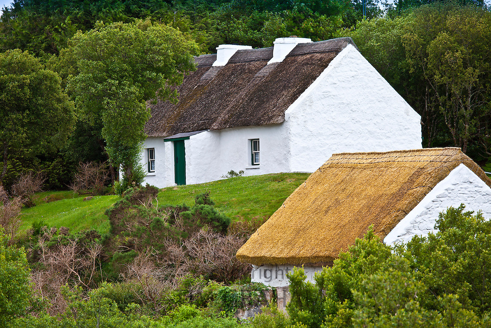 Cottage home of Patrick Pearse, Irish rebel leader,  now a National Monument near Ros Muc, Connemara, County Galway, Ireland