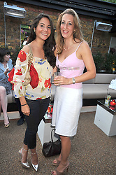 Left to right, GERALDINE VAN DER MAST and LUCY BRUCE-WATT at the launch party of the new Embargo 59 nightclub at 533 Kings Road, London on 25th June 2009.