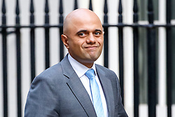 © Licensed to London News Pictures. 13/10/2015. London, UK. Business Secretary SAJID JAVID attending to a cabinet meeting in Downing Street on Tuesday, 13 October 2015. Photo credit: Tolga Akmen/LNP