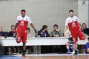Team Pistoia durante il pregame, RED OCTOBER MIA CANTU' vs THE FLEXX PISTOIA, Campionato Lega Basket Serie A 2017/2018 21^ giornata, PalaDesio Desio 11 marzo 2018 - FOTO Bertani/Ciamillo