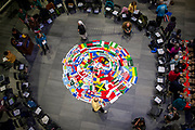 Annual Flag Ceremony in Hemmingson Center. (GU photo by Gavin Doremus)