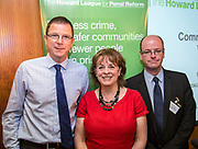 Chief Constable Alex Marshall with Frances Crook and Andrew Neilson of the Howard League. The Howard League for Penal reform's Community Awards 2015 The Kings Fund, London, UK. All use must be credited © prisonimage.org
