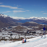 Warner Nickerson, USA, in action during his victory in the Men's Giant Slalom competition at Coronet Peak, New Zealand during the Winter Games. Queenstown, New Zealand, 22nd August 2011. Photo Tim Clayton