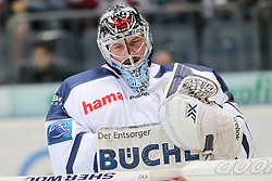 19.10.2014, LANXESS Arena, Köln, GER, DEL, Kölner Haie vs ERC Ingolstadt, 12. Runde, im Bild Timo Pielmeier (ERC Ingolstadt), Koelner Haie - ERC Ingolstadt am 19.10.2014 in der Lanxess-Arena in Koeln (Nordrhein-Westfalen). // during Germans DEL Icehockey League 12 th round match between Cologne Haie and ERC Ingolstadt at the LANXESS Arena in Köln, Germany on 2014/10/19. EXPA Pictures © 2014, PhotoCredit: EXPA/ Eibner-Pressefoto/ Kohring_Fuss<br /> <br /> *****ATTENTION - OUT of GER*****