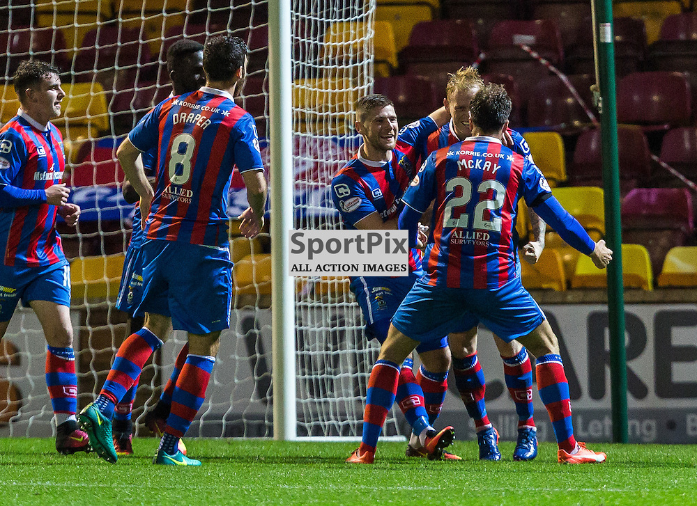 Liam Polworth celebrates his goal during the match between Motherwell and Inverness Caledonia Thistle (c) ROSS EAGLESHAM | Sportpix.co.uk