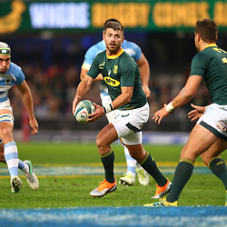 DURBAN, SOUTH AFRICA - AUGUST 18: Willie le Roux of South Africa during the Rugby Championship match between South Africa and Argentina at Jonsson Kings Park on August 18, 2018 in Durban, South Africa. (Photo by Steve Haag/Gallo Images)