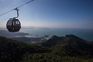 Langkawi Cable Car, known locally as SkyCab is the steepest cable car ride on earth.  It takes passengers up 708 meters above sea level to Mount Machinchang.  The view of surrounding islands from the top is breathtaking, and considered the number one attraction in Langkawi coupled with the sky bridge.