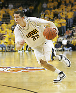 26 NOVEMBER 2007: Iowa guard Jake Kelly (32) drives to the basket in Wake Forest's 56-47 win over Iowa at Carver-Hawkeye Arena in Iowa City, Iowa on November 26, 2007.