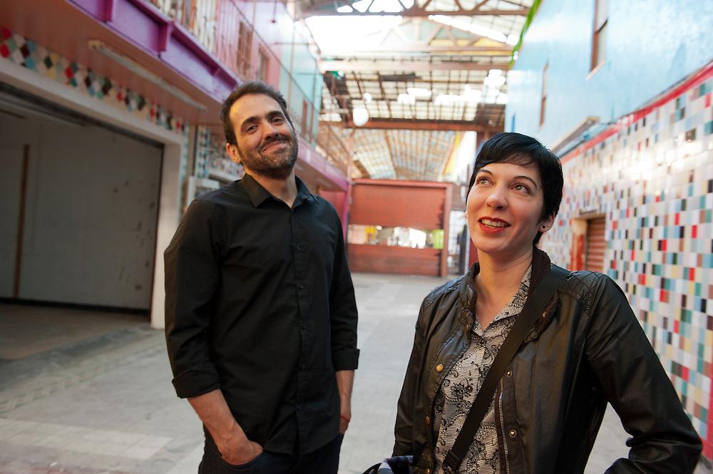 Mely Barragan and Daniel Ruanova, artists, Tijuana. ..@ Stefan Falke.http://www.stefanfalke.com/..