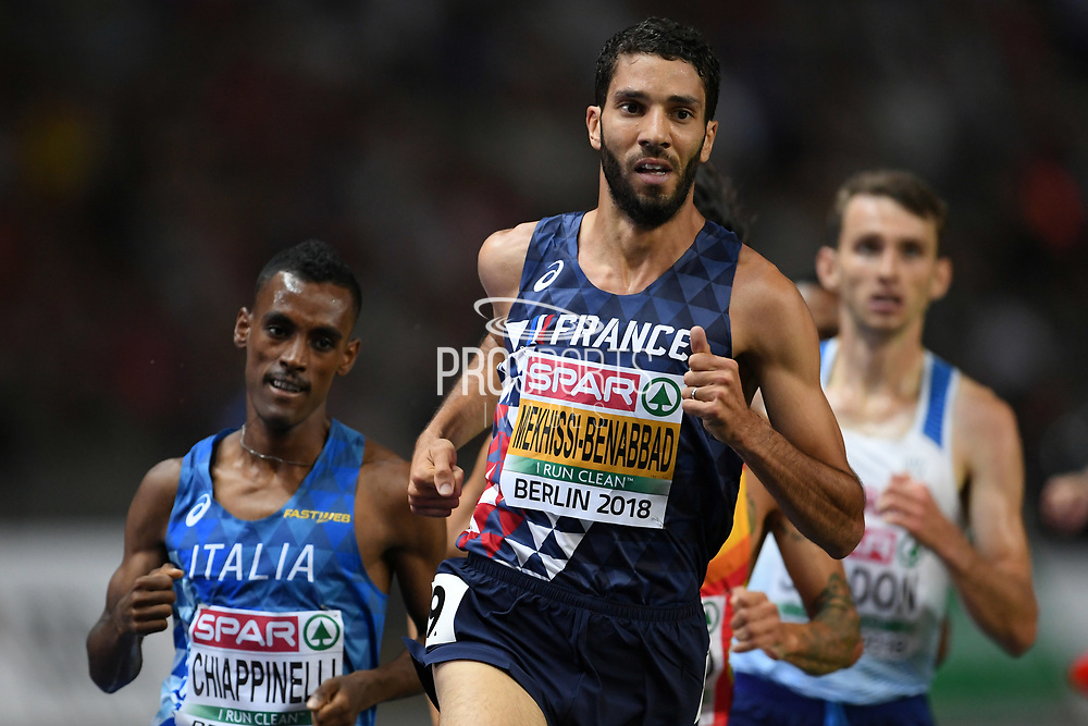 Mahiedine Mekhissi Benabbad competes and wins in men 3000m steeple during the European Championships 2018, at Olympic Stadium in Berlin, Germany, Day 3, on August 9, 2018 - Photo Philippe Millereau / KMSP / ProSportsImages / DPPI