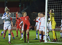 NEWPORT, WALES - Thursday, April 4, 2019: Wales' Kayleigh Green during an International Friendly match between Wales and Czech Republic at Rodney Parade. (Pic by David Rawcliffe/Propaganda)