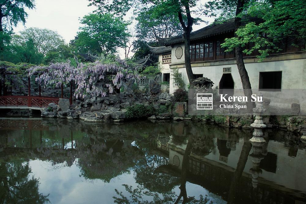 Landscape in Humble Administrator's Garden, Suzhou, Jiangsu, China