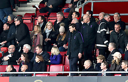 Tottenham Hotspur manager Mauricio Pochettino takes his seat in the stands as the second half begins during the Premier League match at St Mary's Stadium, Southampton.