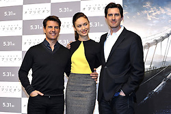 59613075.Tom Cruise, Olga Kurylenko and Joseph Kosinski at the Press conference to Oblivion in Hotel Ritz Carlton Tokyo, Japan, May 7, 2013. Photo by:  imago / i-Images.UK ONLY