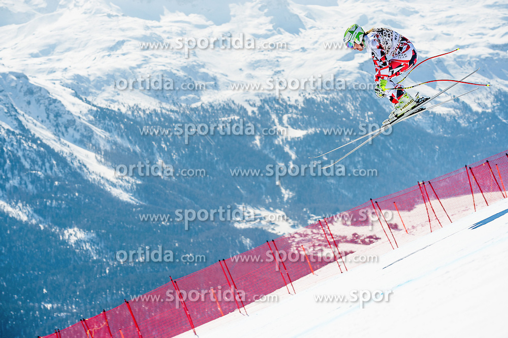 14.03.2016, Engiadina, St. Moritz, SUI, FIS Weltcup Ski Alpin, St. Moritz, Abfahrt, Damen, 1. Training, im Bild Ramona Siebenhofer (AUT) // competes in her 1st training run for the ladie's Downhill of st. Moritz Ski Alpine World Cup finals at the Engiadina in St. Moritz, Switzerland on 2016/03/14. EXPA Pictures &copy; 2016, PhotoCredit: EXPA/ Freshfocus/ Manuel Lopez<br /> <br /> *****ATTENTION - for AUT, SLO, CRO, SRB, BIH, MAZ only*****