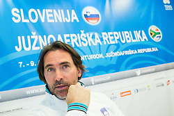 Blaz Trupej, Captain during press conference of Slovenian National Men Tennis Team before Davis Cup against South Africa Republic, on March 30, 2017 in Ljubljana, Slovenia. Photo by Vid Ponikvar / Sportida