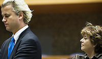 Nederland. Den Haag, 18 september 2008.<br /> Geert Widers en Rita Verdonk tijdens de tweede dag van de algemene beschouwingen<br /> Foto Martijn Beekman<br /> NIET VOOR PUBLIKATIE IN LANDELIJKE DAGBLADEN.
