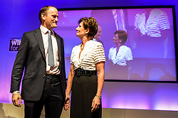 Ukip leader Diane James introduces Douglas Carswell (left) before he addressees the Ukip conference in Bournemouth.