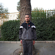 November 14, 2012 - Kabul, Afghanistan: Portrait of a Afghan National Police (ANP) cadet in the patio of the Afghan Nacional Police Academy...ANP Academy trains 1250 cadets at the time during a period of four years. Every year, five hundred new recruits are selected, out of more than nine thousand of candidates, to join the academy and other five hundred graduate. Fifteen per cent of the recruits are women. (Paulo Nunes dos Santos/Polaris)