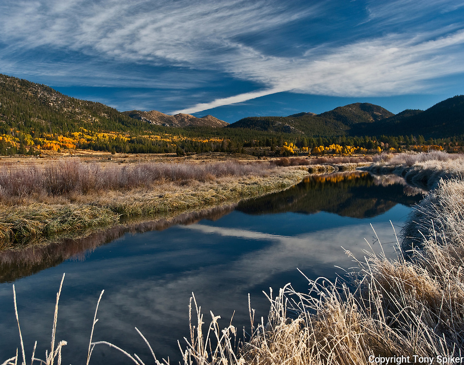 """Fall Along the West Carson River 1"" - Frost forms on grasses on a crisp fall morning along the West Carson River in Hope Valley"