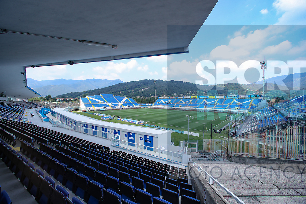 A general view of the stadium during the Serie A match at Stadio Mario Rigamonti, Brescia. Picture date: 27th June 2020. Picture credit should read: Jonathan Moscrop/Sportimage