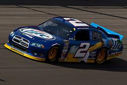 Mar 11, 2012; Las Vegas, NV, USA;  Sprint Cup Series driver Brad Keselowski (2) during the Kobalt Tools 400 at Las Vegas Motor Speedway. Mandatory Credit: Jason O. Watson-US PRESSWIRE