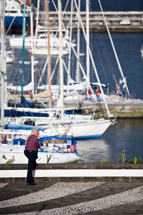 Horta is on the island of Faial. One of of the Azores, which is  a group of islands in the Atlantic that are a part of Portugal and the European Union. Horta is a popular stop for yachts crossing the Atlantic in the Spring time to return to Europe.