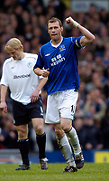 Photo. Jed Wee, Digitalsport<br /> NORWAY ONLY<br /> <br /> Everton v Bolton Wanderers, FA Barclaycard Premiership, 08/05/2004.<br /> Everton's Duncan Ferguson celebrates after briefly restoring his team to equal terms.