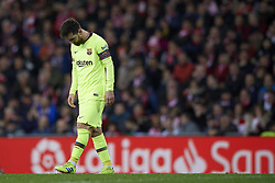 February 10, 2019 - Bilbao, Vizcaya, Spain - Lionel Messi of Barcelona lament a failed occasion during the week 23 of La Liga between Athletic Club and FC Barcelona at San Mames stadium on February 10 2019 in Bilbao, Spain. (Credit Image: © Jose Breton/NurPhoto via ZUMA Press)