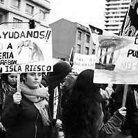 The silent movement in Southern Patagonia was not suficient to rouse people in the other parts of Chile and struggle together to defend life in Riesco&acute;s Island.<br /> <br /> The power of money provides the road to put a big Carbon Mine in this pristine place.<br /> <br /> Carbon Dioxide and its waste rises up directly to winds circulating high in the Patagonian skyes. They will impact the virgin forests, small fisheries and glaciers.