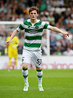 01/07/15 PRE-SEASON FRIENDLY MATCH<br /> CELTIC V DEN BOSCH<br /> ST MIRREN PARK - PAISLEY<br /> Liam Henderson in action for Celtic.