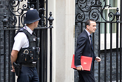 © Licensed to London News Pictures. 21/09/2017. London, UK. Secretary of State for Wales Alun Cairns leaving No 10 Downing Street after attending a Cabinet meeting this morning. Photo credit : Tom Nicholson/LNP