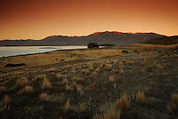 Richard Furhoff 100101_NewZealand_DSC3887_1.tif.Last Light, Lake Tekapo. New Zealand.