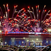 September 05, 2012:  A general view of the pyrotechnics above Met Life Stadium during the opening game of the 2012 season between the Dallas Cowboys and the New York Giants at Met Life Stadium in East Rutherford, NJ.  (Credit Image: © Kostas Lymperopoulos/Cal Sport Media)