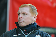 Neil Lennon during the Sky Bet Championship match between Bournemouth and Bolton Wanderers at the Goldsands Stadium, Bournemouth, England on 27 April 2015. Photo by Adam Rivers.