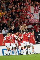 FOOTBALL - FRENCH CHAMPIONSHIP 2009/2010 - L1 - VALENCIENNES FC v OLYMPIQUE LYONNAIS - 8/05/2010 - PHOTO GUILLAUME RAMON / DPPI - JOY OF VALENCIENNES
