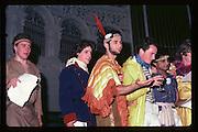 Dick Bott, Hughie Grant, Danny Dagen Hurst, Jeremy Howard, Satch Mehta at Piers Gaveston Ball. Oxford Town Hall. 1981 approx© Copyright Photograph by Dafydd Jones 66 Stockwell Park Rd. London SW9 0DA Tel 020 7733 0108 www.dafjones.com