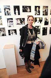 LADY LIZA CAMPBELL at a private view of photographs by Nick Ashley held at the Sladmore Gallery, 32 Bruton Place, London on 13th January 2010.