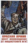 Czechs, Slovaks, Poles! The Red Army liberates you from the Fascist Yoke', 1944.  Soviet propaganda poster by Dementij Smarinov. Russia USSR  Communism Communist