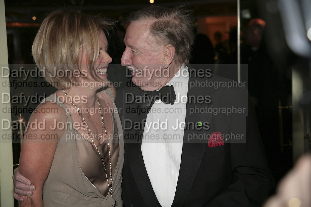Mariella Frostrup and Leslie Phillips, Cocktail party before the  27th Annual London Film Critics' Circle Awards. In aid of the NSPCC. Dorchester. 8 February 2007.  -DO NOT ARCHIVE-© Copyright Photograph by Dafydd Jones. 248 Clapham Rd. London SW9 0PZ. Tel 0207 820 0771. www.dafjones.com.
