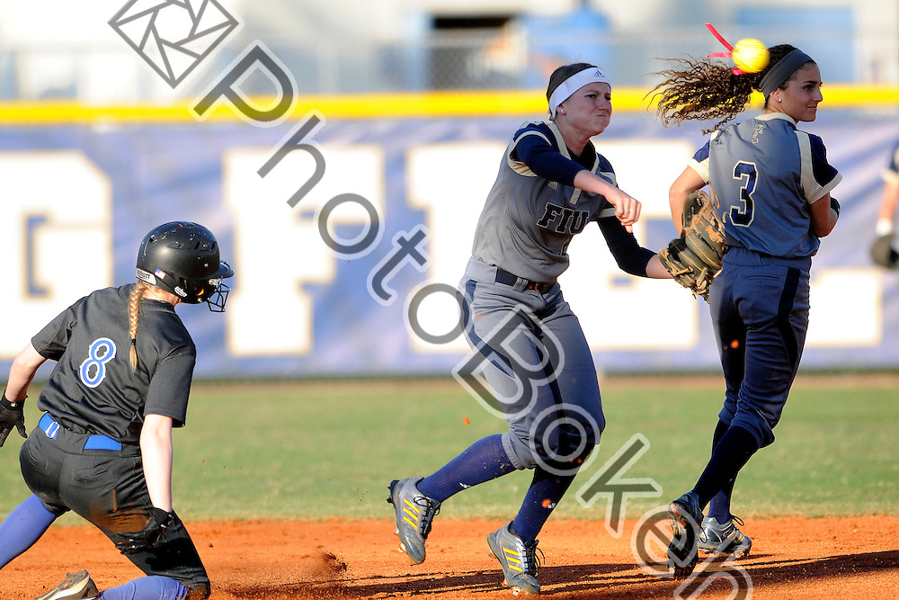 2015 February 13 - FIU's Ashley Belans (2). Florida International University defeated Memphis, 3-2, at the Felsberg Field at the FIU Softball Stadium, Miami, Florida. (Photo by: Alex J. Hernandez / photobokeh.com) This image is copyright by PhotoBokeh.com and may not be reproduced or retransmitted without express written consent of PhotoBokeh.com. ©2015 PhotoBokeh.com - All Rights Reserved