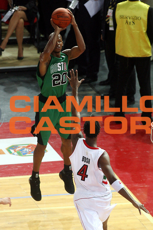 DESCRIZIONE : Roma Nba Europe Live Tour 2007 Toronto Raptors Boston Celtics <br />GIOCATORE : Ray Allen<br />SQUADRA : Boston Celtics<br />EVENTO : Nba Europe LIve Tour 2007<br />GARA : Toronto Raptors Boston Celtics<br />DATA : 06/10/2007<br />CATEGORIA : Tiro<br />SPORT : Pallacanestro<br />AUTORE : Agenzia Ciamillo-Castoria/G.Ciamillo<br />Galleria : Nba Europe Live Tour 2007<br />Fotonotizia : Roma Nba Europe Live Tour 2007 Toronto Raptors Boston Celtics <br />Predefinita :