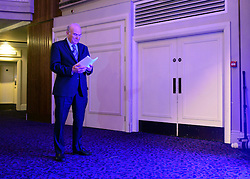 © Licensed to London News Pictures. 19/11/2012. London, UK Business Secretary Vince Cable waits to speak at the CBI (Confederation of British Industry's) conference at Grosvenor House Hotel today 19th October 2012 . Photo credit : Stephen Simpson/LNP
