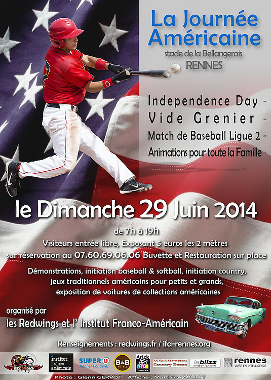 Jose Picado, 4th of July Event Street advertising poster, 2014.