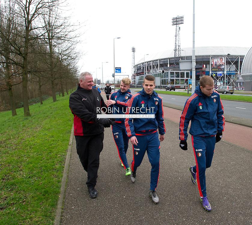 AMSTERDAM - Feyenoorder Vejinovic met dood bedreigd<br /> Crisis in De Kuip 02-02-2016 VOETBAL: TRAINING FEYENOORD: ROTTERDAM  COPYRIGHT MICHEL UTRECHT