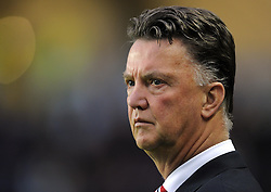 Manchester United Manager, Louis van Gaal - Photo mandatory by-line: Joe Meredith/JMP - Mobile: 07966 386802 26/08/2014 - SPORT - FOOTBALL - Milton Keynes - Stadium MK - Milton Keynes Dons v Manchester United - Capital One Cup